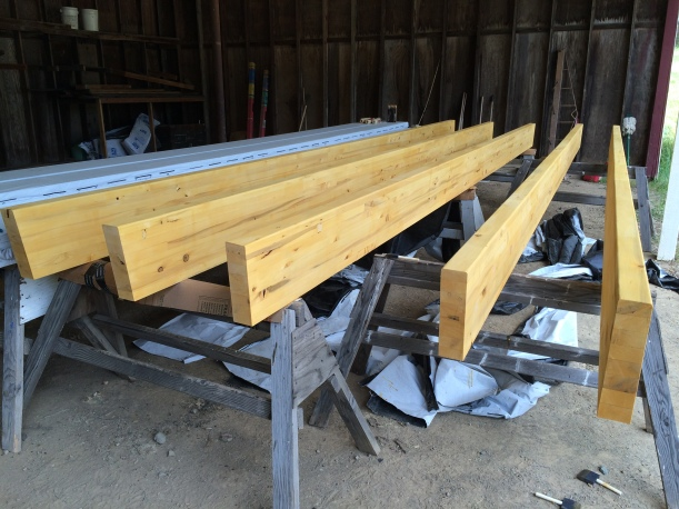 Glulam beams for roof