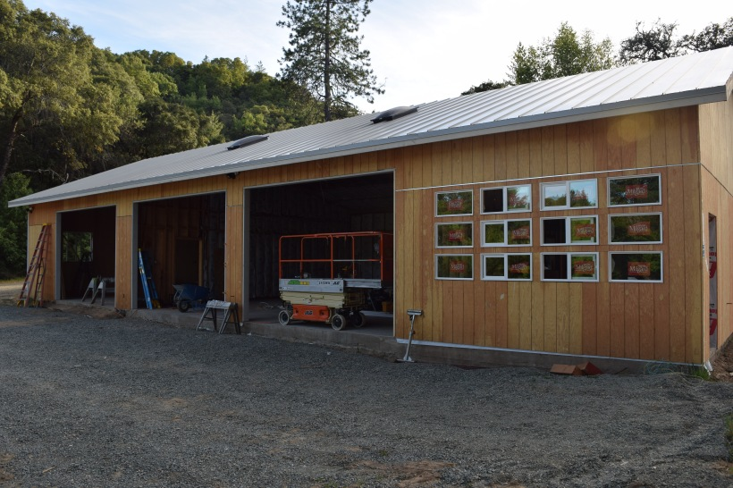 The new shed which will house Stephen's workshop, room for ranch vehicles, and guest cottage.